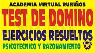 TEST DE DOMINO EJERCICIOS RESUELTOS DE PSICOTECNICO