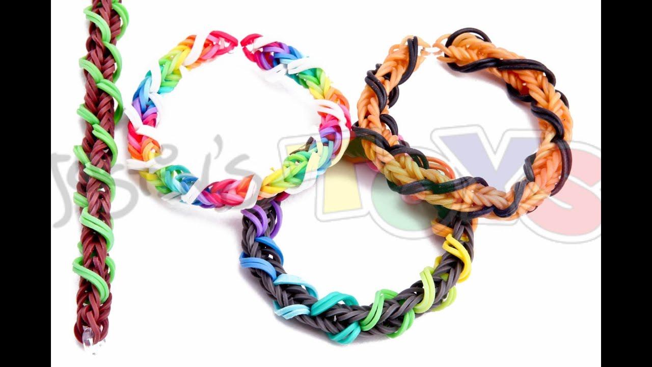 Spiral bracelet rainbow loom