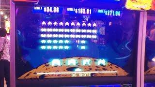++NEW Space Invaders skill-based slot machine, G2E 2015, SG