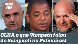 É BURRICE? Vampeta POLEMIZA ao falar de Sampaoli no Palmeiras!