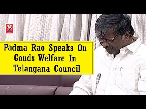 Excise Minister Padma Rao Speaks On Gouds Welfare In Telangana Council | V6 News