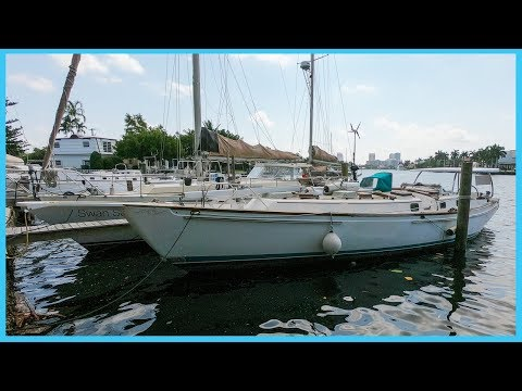 85. Hurricane Damaged Fifty Foot DREAM Bluewater Cruiser! [Full Tour] Learning The Lines