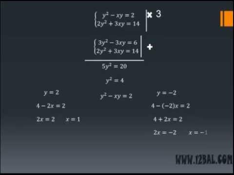 Системы уравнений второй степени  Урок 4