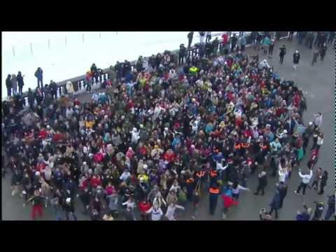 Flash-Mob Флэш Моб на Воробьёвых Горах TACO