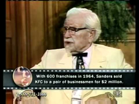 Colonel Sanders KFC Starts Business at 66 - When will you get started ?
