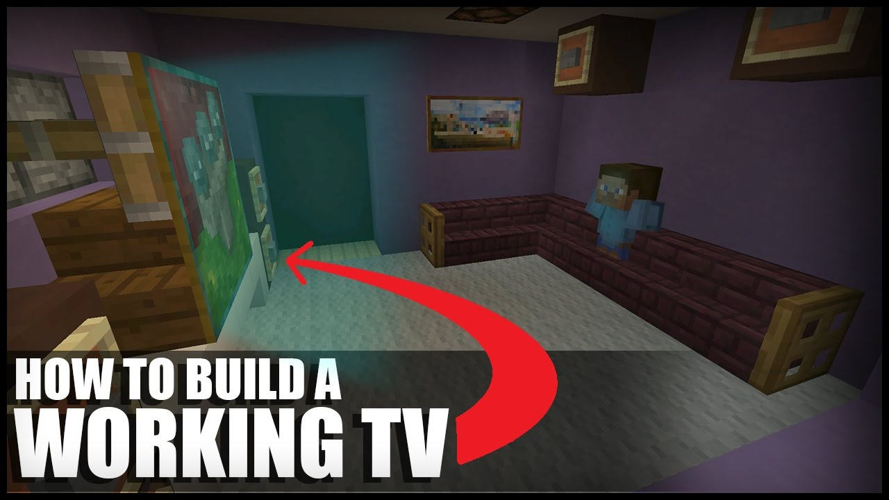 how to make a working tv in minecraft youtube. Black Bedroom Furniture Sets. Home Design Ideas