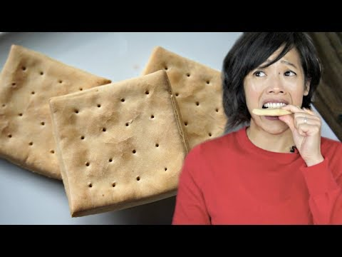 HARDTACK Civil War Era Recipe & Taste Test - Will I Chip A Tooth?