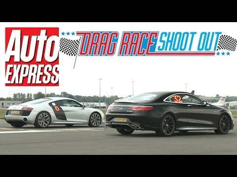 Audi R8 V10 vs Mercedes S63 AMG Coupe - Drag Race Shoot-out