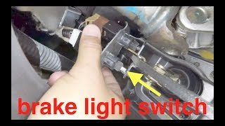 no brake lights | replace clean repair brake switch Nissan Sentra Versa √ Fix it Angel