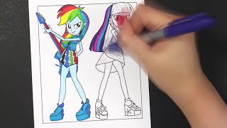 mlp equestria girls twilight sparkle rainbow dash coloring with sharpie and copic by darlingdolls