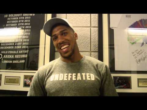 Post Fight with Anthony Joshua after he destroys Kevin Johnson