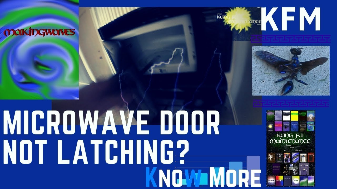 medium resolution of over range microwave door not latching closing or working how to repair video