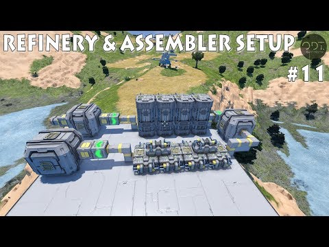 [11] SPACE ENGINEERS Ep.11: Refinery & Assembler setup