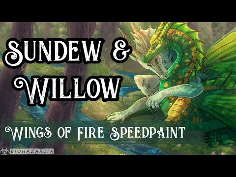 🍃-sundew-&-willow-🍃-wings-of-fire---poison-jungle-anniversary-speedpaint