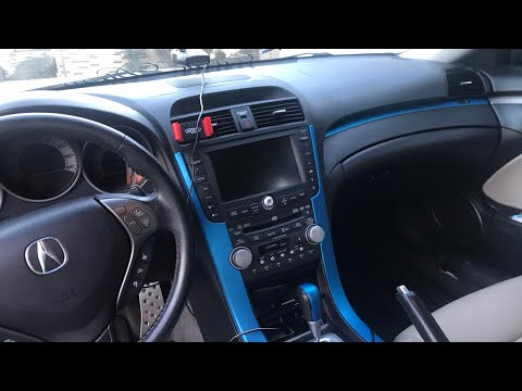 VINYL WRAPPING INTERIOR OF THE TL TYPE S