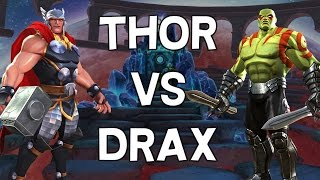 Thor VS Drax - Speed Killing Comparison - Patch 12.0.1 - Marvel Contest Of Champions