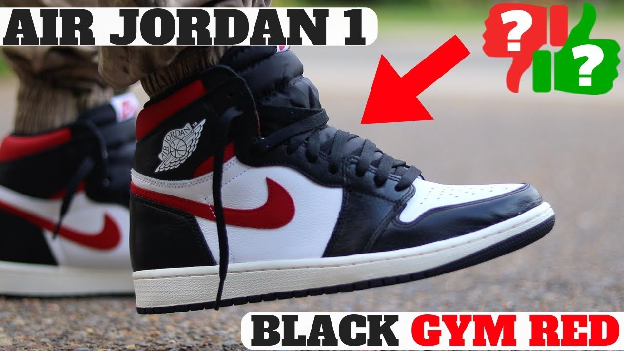 32031829711ca WORTH BUYING? AIR JORDAN 1 BLACK GYM RED REVIEW + ON FEET