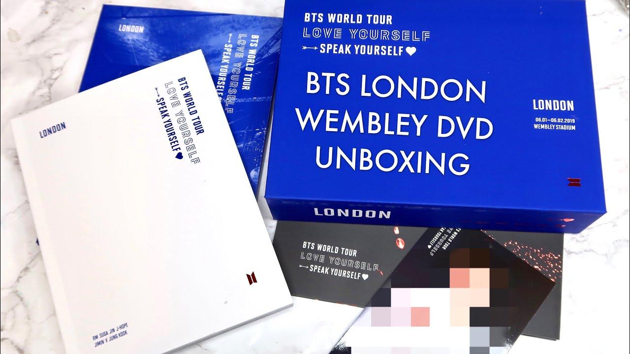 BTS (방탄소년단) WORLD TOUR Love Yourself Speak Yourself London Wembley Stadium DVD Unboxing!