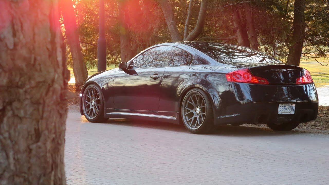 New Infiniti G35 Coupe >> Vossen G35 Coupe Walkaround + Exhaust (LOWERED) - YouTube