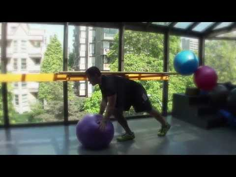 Swiss Ball Mountain Climber Technique. CutFIT