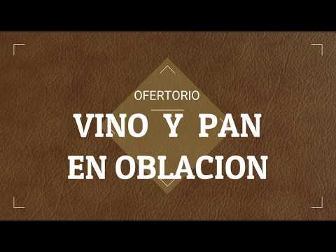 VINO Y PAN EN OBLACION  ( OFERTORIO letra y acordes )