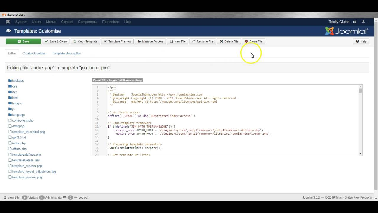 Joomla 3 how to edit template css php files create for How to upload a template in joomla