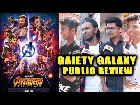 Avengers Infinity War CRAZE In India | PUBLIC REVIEW | Gaiety Galaxy Theatre