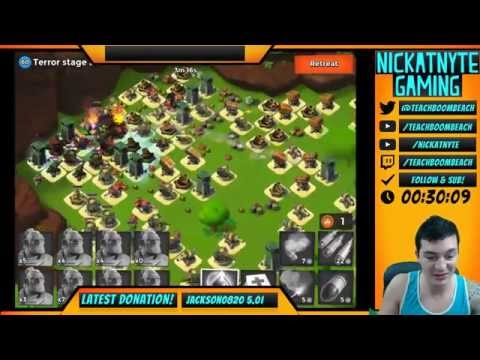 Boom Beach Dr Terror's Volcano Island Live - Recorded During A Twitch Stream!