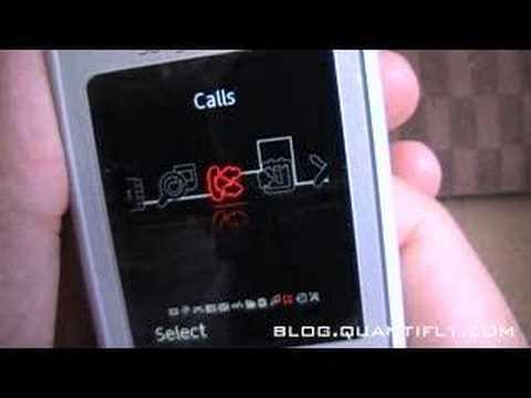 Sony Ericsson K770i Flash Menu (blog.quantifly.com/?p=7)