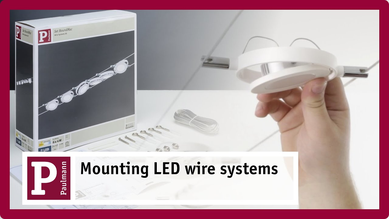 led wire system flexible positioning and easy installation youtube. Black Bedroom Furniture Sets. Home Design Ideas