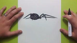 Como dibujar una araña paso a paso 6 | How to draw a spider 6