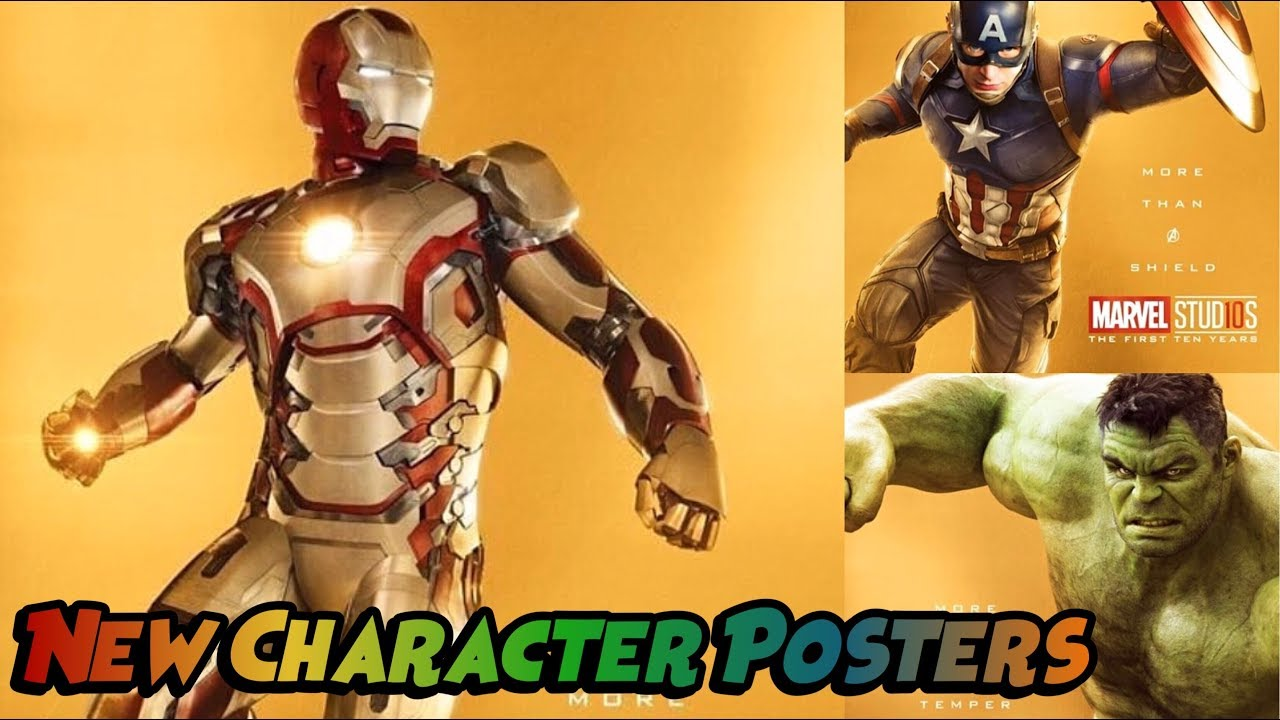 Marvel Movie Posters: New Marvel Studios 10th Anniversary Character Posters