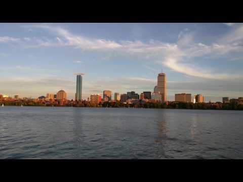Boston - Prudential Center, Charles River - Evening Timelapse