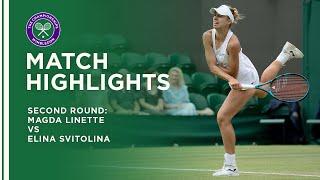 Magda Linette vs Elina Svitolina | Second Round Highlights | Wimbledon 2021