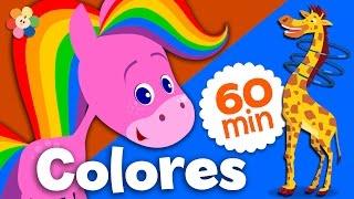 Aprende Colores | Coloreando Animales con Colores | Compilación del Caballo Arco Iris | BabyFirst