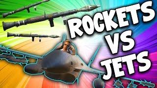 SquiddyPlays - GTA V RACES! - ROCKETS VS JETS!