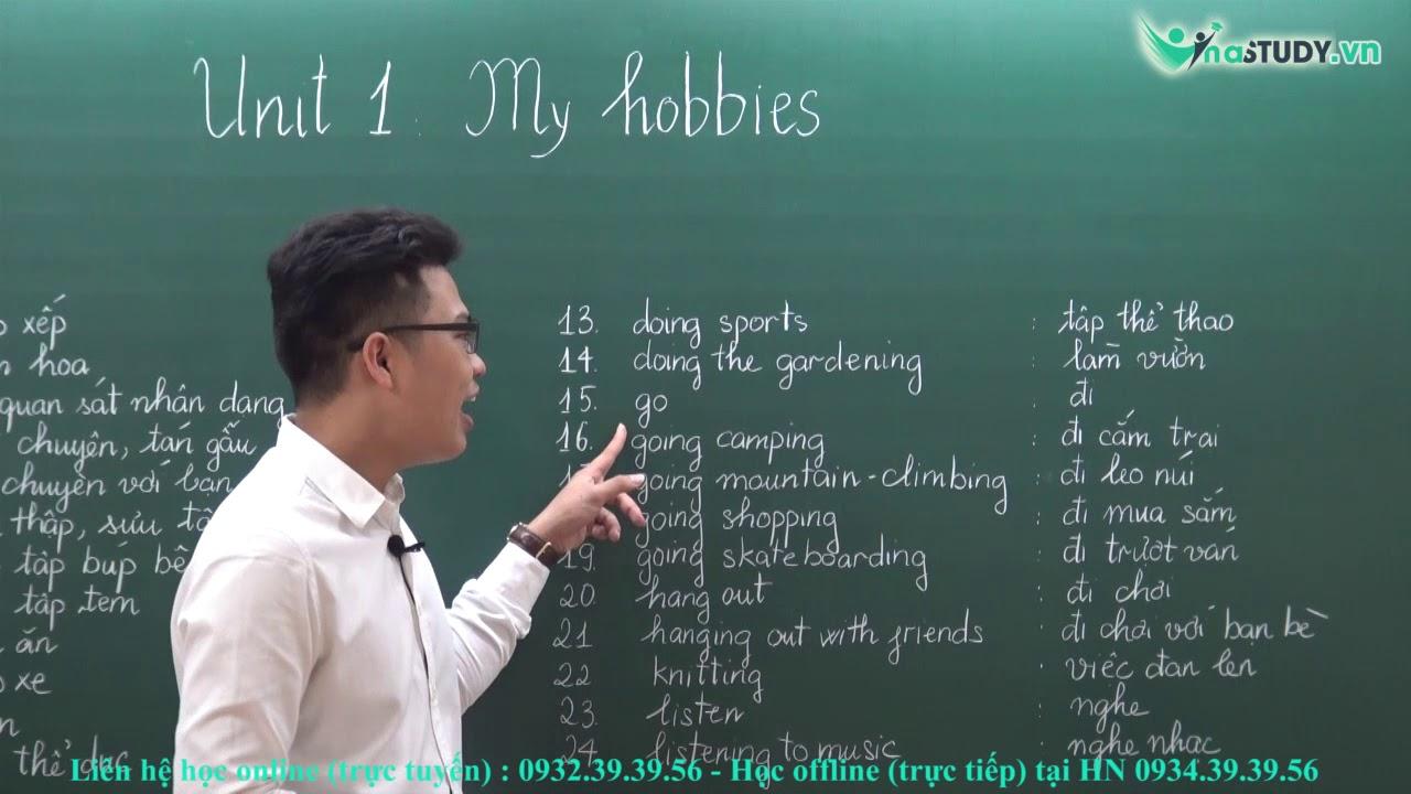 [Tiếng anh lớp 7] – Unit 1: My hobbies – thầy Tú Phạm