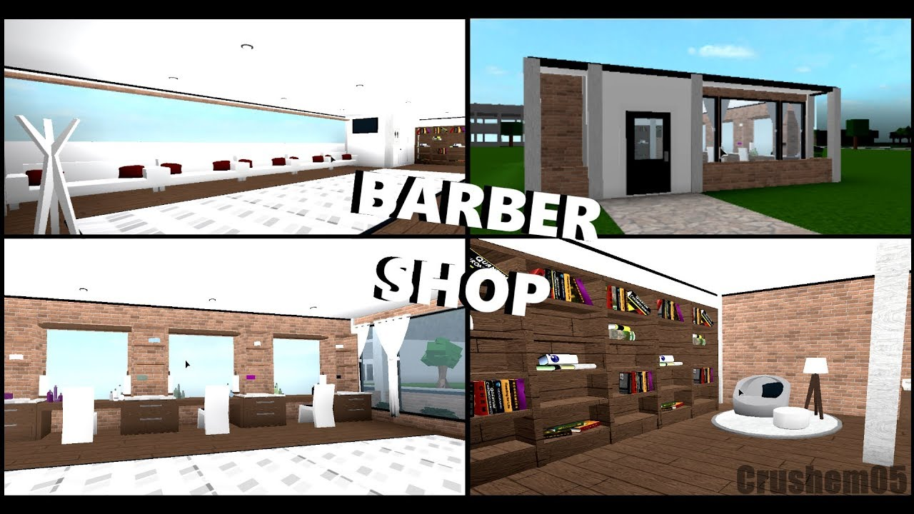 Barber Shop Roblox Welcome To Bloxburg Speedbuild Youtube