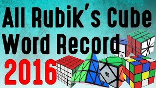 All Rubik's cube World Record 2017