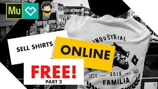 Set Up a T Shirt Store ONLINE (FREE) w/ Spreadshirt Integration & Adobe Muse