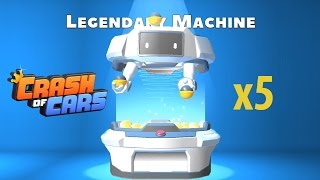 Crash of Cars Playing the Legendary Prize machine 5 TIMES !