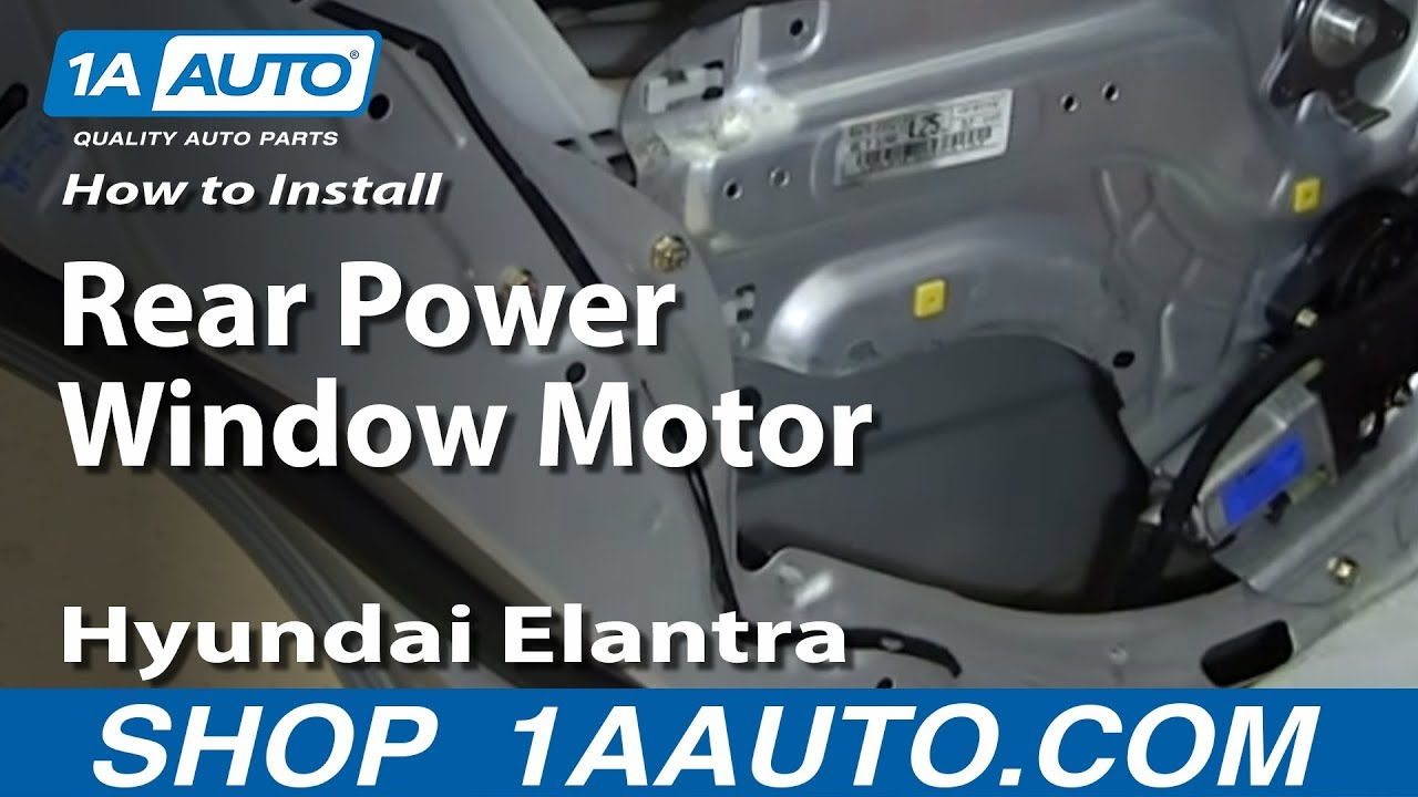 How To Install Replace Rear Power Window Motor 2001 06 Hyundai Elantra Youtube: car window motor replacement