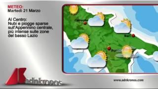 Il meteo di domani, martedì 21 marzo...