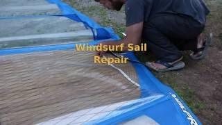 Windsurf Sail Repair - Permanently Patching A Torn Panel