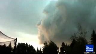 Wow! A face in the clouds