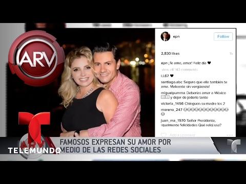 Famosos celebran San Valentín en redes sociales | Al Rojo Vivo | Telemundo