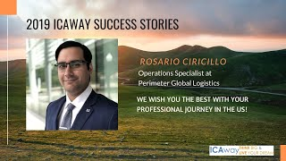 How to get hired as an international student - ICAway Success Stories 2019 Rosario Ciricillo v2