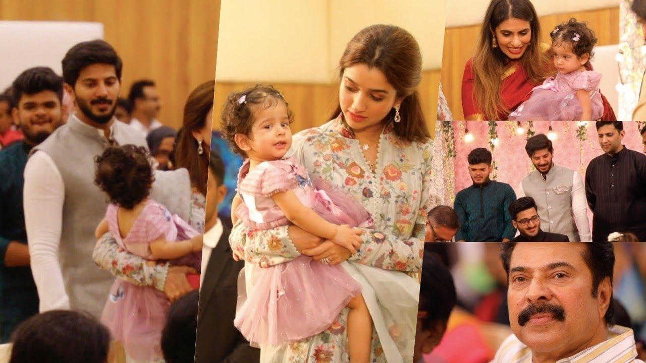 ദുൽഖറിന്റെ മാലാഖ മറിയം പൊതുവേദിയിൽ തിളങ്ങി !! Dulquer Salmaan Daughter Mariyam At Wedding Event #1