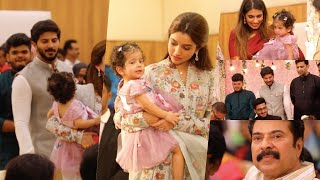 ദുൽഖറിന്റെ മാലാഖ മറിയം പൊതുവേദിയിൽ തിളങ്ങി !! Dulquer Salmaan Daughter Mariyam At Wedding Event