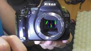 Чёрные снимки. Фотокамера Nikon D3100. РЕМОНТ